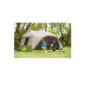 Family Camping Tent For 9 Person 2 Room Instant Cabin Tents with Screen Room,Rainfly