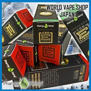 VAPE 電子たばこ リキッド CBD PharmaHemp PB フルスペクトラム 500mg 5% 10ml CBD worldvapeshop