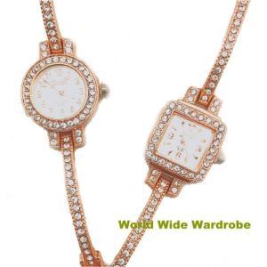 ★キラキララインストーンブレスレットおしゃれバングルブレスレットウオッチレディース腕時計|worldwidewardrobe