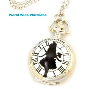 DM便発送OK★アリスインワンダーランド不思議の国のアリスプチペンダント懐中時計|worldwidewardrobe
