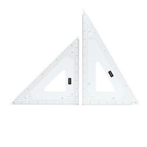 UCHIDA 三角定規 24cm 縮尺目盛り付き 1-809-1024 |wow