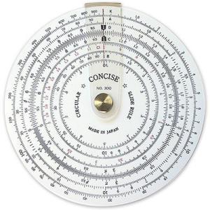 コンサイス 定規 円形計算尺 NO.300 100829