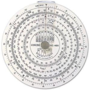 コンサイス 定規 円形計算尺 日数計算器 NO.480 100836