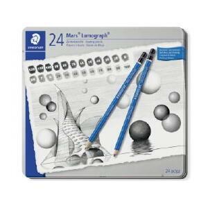 プロユーザーからも愛される「マルス ルモグラフ 製図用高級鉛筆」の全硬度が1本ずつ入ったセットです。...