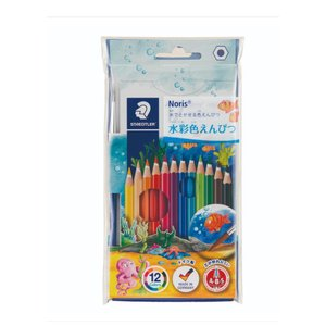 ※専用ビニールパッケージ入りです。  描いたあと、水を含ませた筆でなぞると水彩絵の具のようになります...