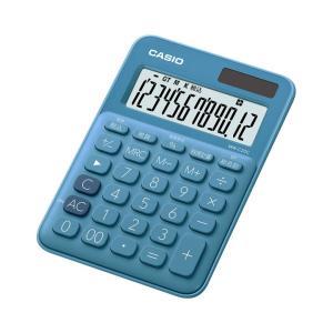 カシオ カラフル電卓 12桁 レイクブルー MW-C20C-BUN|wow