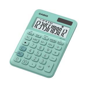 カシオ カラフル電卓 12桁 ミントグリーン MW-C20C-GNN|wow