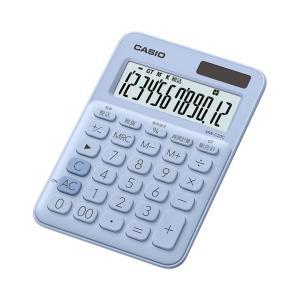 カシオ カラフル電卓 12桁 ペールブルー MW-C20C-LBN|wow