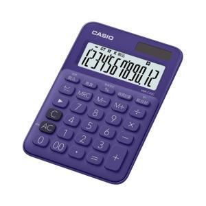 カシオ カラフル電卓 12桁 パープル MW-C20C-PLN|wow