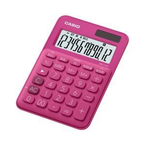 カシオ カラフル電卓 12桁 ビビッドピンク MW-C20C-RDN|wow