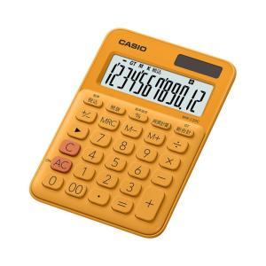 カシオ カラフル電卓 12桁 オレンジ MW-C20C-RGN|wow