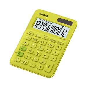 カシオ カラフル電卓 12桁 ライムグリーン MW-C20C-YGN|wow