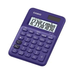 カシオ カラフル電卓 10桁 パープル MW-C8C-PLN|wow