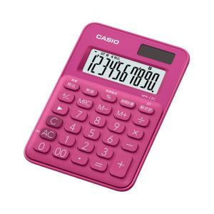 カシオ カラフル電卓 10桁 ビビッドピンク MW-C8C-RDN|wow