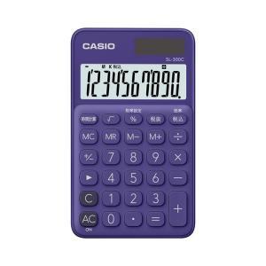 カシオ カラフル電卓 手帳タイプ 10桁 パープル SL-300C-PLN|wow