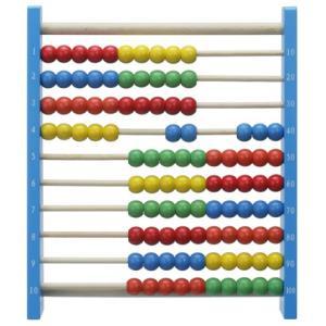 百玉そろばんは、小さなお子様も遊びながら数の概念や足し算・引き算の基礎が学べます。  カラフルな木製...