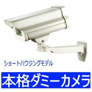 ダミーカメラ内蔵ショートハウジング 屋外用 LED点滅式 catF-EA713|wowsystem