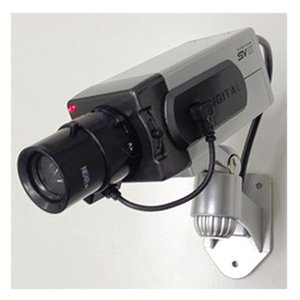 LED点滅式ダミー防犯カメラ 防犯ステッカー付 ITD-04BOX 屋内用 |wowsystem