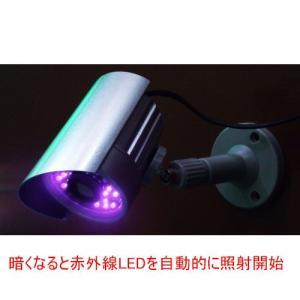 光センサー搭載 赤外線照射機能搭載ダミーカメラ ITD-05IR|wowsystem