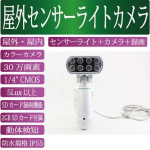 SDカード録画機能搭載 LEDセンサーライトカメラ MT-SL01 LEDセンサーライトと防犯カメラと録画装置が一つに |wowsystem