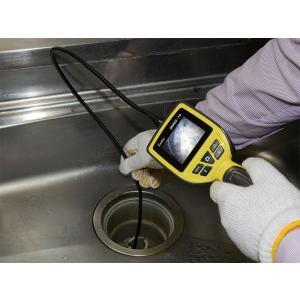 2.5型液晶モニター搭載、LEDライト付き防水スネイクカメラ SNAKE-16|wowsystem|03
