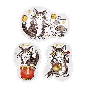 猫小皿セット ペイント わちふぃーるどダヤン|wpelle