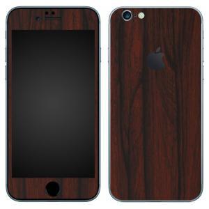 iPhone6s iPhone6 スキンシール 前面 背面 シール ケース カバー wraplus 選べる31色 ローズウッド|wraplus