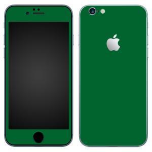 iPhone6s iPhone6 スキンシール 前面 背面 シール ケース カバー wraplus 選べる31色 グリーン 緑|wraplus