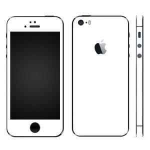 iPhoneSE iPhone5S iPhone5 スキンシール 全面 シール ケース カバー wraplus 選べる31色 ホワイト 白|wraplus