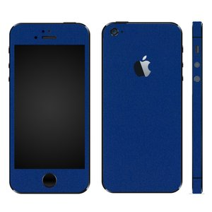 iPhoneSE iPhone5S iPhone5 スキンシール 全面 シール ケース カバー wraplus 選べる31色 ブルー 青|wraplus