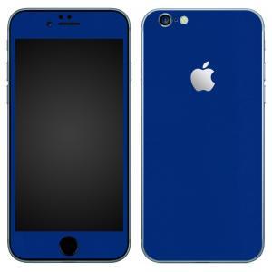 iPhone6s iPhone6 スキンシール 前面 背面 シール ケース カバー wraplus 選べる31色 ブルー 青|wraplus