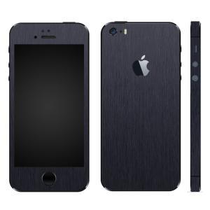 iPhoneSE iPhone5S iPhone5 スキンシール 全面 シール ケース カバー wraplus 選べる31色 ネイビーブラッシュメタル|wraplus