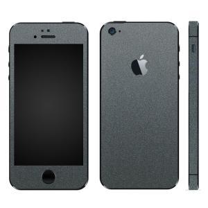 iPhoneSE iPhone5S iPhone5 スキンシール 全面 シール ケース カバー wraplus 選べる31色 ガンメタリック|wraplus