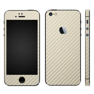 iPhoneSE iPhone5S iPhone5 スキンシール 全面 シール ケース カバー wraplus 選べる31色 ゴールドカーボン|wraplus