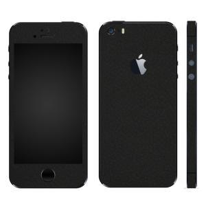 iPhoneSE iPhone5S iPhone5 スキンシール 全面 シール ケース カバー wraplus 選べる31色 ブラックレザー|wraplus