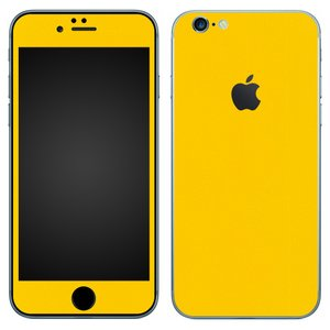 iPhone6s iPhone6 スキンシール 前面 背面 シール ケース カバー wraplus 選べる31色 イエロー 黄色|wraplus