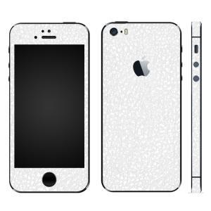 iPhoneSE iPhone5S iPhone5 スキンシール 全面 シール ケース カバー wraplus 選べる31色 ホワイトレザー|wraplus