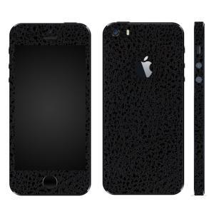 iPhoneSE iPhone5S iPhone5 スキンシール 全面 シール ケース カバー wraplus 選べる31色 ブラック光沢レザー|wraplus