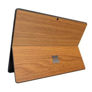 Surface ProX スキンシール ケース カバー 保護 フィルム 背面 wraplus 選べる31色 オーク|wraplus