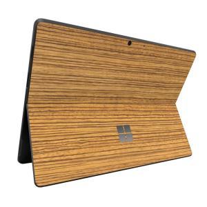 Surface ProX スキンシール ケース カバー 保護 フィルム 背面 wraplus 選べる31色 ゼブラウッド2|wraplus
