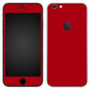 iPhone6s iPhone6 スキンシール 前面 背面 シール ケース カバー wraplus 選べる31色 レッド 赤|wraplus