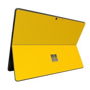 Surface ProX スキンシール ケース カバー 保護 フィルム 背面 wraplus 選べる31色 イエロー 黄色|wraplus
