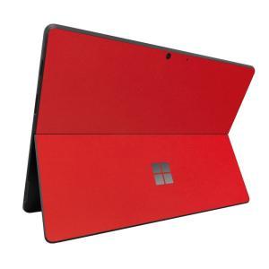 Surface ProX スキンシール ケース カバー 保護 フィルム 背面 wraplus 選べる31色 レッド 赤|wraplus