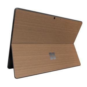 Surface ProX スキンシール ケース カバー 保護 フィルム 背面 wraplus 選べる31色 ブロンズブラッシュメタル|wraplus