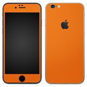 iPhone6s iPhone6 スキンシール 前面 背面 シール ケース カバー wraplus 選べる31色 オレンジ|wraplus