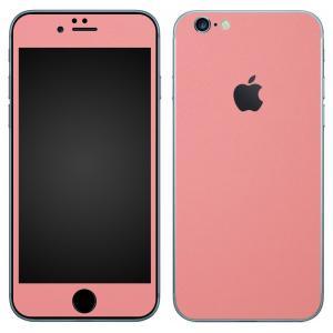 iPhone6s iPhone6 スキンシール 前面 背面 シール ケース カバー wraplus 選べる31色 サーモンピンク|wraplus
