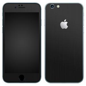 iPhone6s iPhone6 スキンシール 前面 背面 シール ケース カバー wraplus 選べる31色 ブラックブラッシュメタル|wraplus
