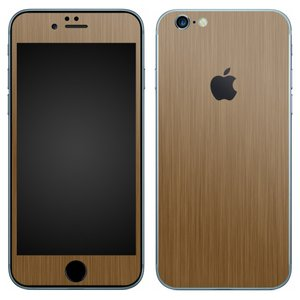 iPhone6s iPhone6 スキンシール 前面 背面 シール ケース カバー wraplus 選べる31色 ブロンズブラッシュメタル|wraplus