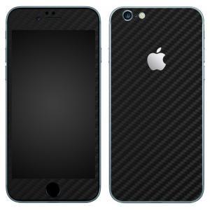 iPhone6s iPhone6 スキンシール 前面 背面 シール ケース カバー wraplus 選べる31色 ブラックカーボン|wraplus