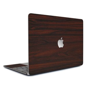Macbook Air 13インチ ステッカー ケース カバー スキンシール (ローズウッド) wraplus 木製 木目 ウッド シール